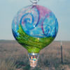 Stripe Balloon w/Wave–Pink Turquoise Lime