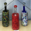 Wine Chillers – (left to right) Apple w/Dichroic, Gypsy Mix, Red Mix, Confetti White, Ocher w/Dichroic