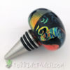 Cone Stopper- Fire Red with Dichroic